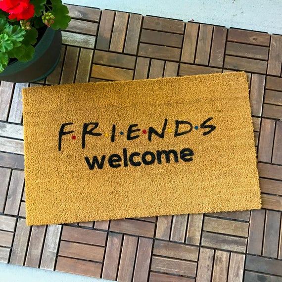 Freunde Tv Zeigen Geschenke Willkommensmatte Lustige Etsy
