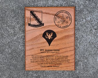 Military Going Away Plaques and Exotic by SouthernCoastalWorks