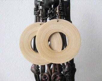 Ash wood earrings /  Summer earrings  / Minimalist earrings / natural wood earrings / gift for her