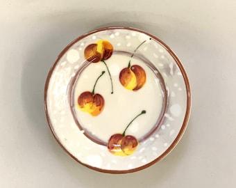 Rainier Cherry Cocktail Plate