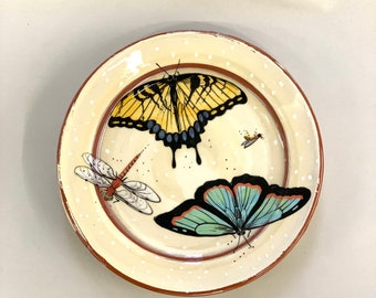 Tiger Swallow Tail  & Aqua Butterfly Plate