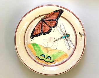 Monarch & Green IO Butterfly Plate