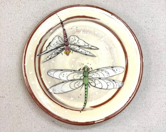 Double Dragon Fly Cocktail Plate