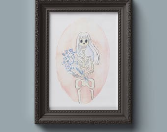 Print - Portrait of a skeleton
