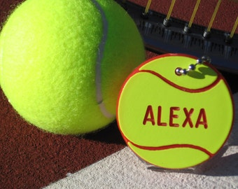 Tennis Gift / Personalized Tennis Camp Gift / Tennis Bag Tags / Tennis Team Gifts