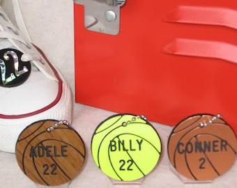 Basketball Gift / Girls Basketball Gift / Personalized Basketball Gift / Basketball Bag Tags / Basketball  Bag Tag