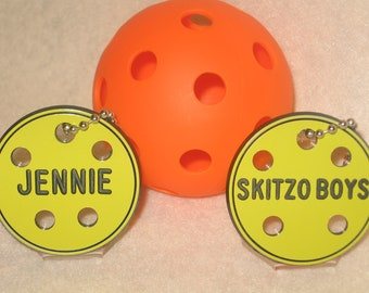 Pickleball / Personalized Pickleball Bag Tags / Pickleball Gift