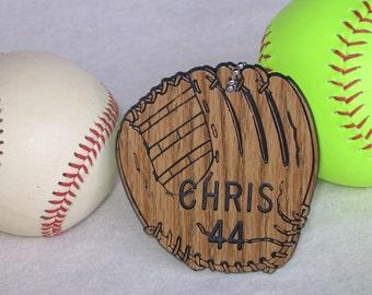 Personalized Baseball Gift / Personalized Softball Gift / Baseball Bag Tags / Softball Bag Tags
