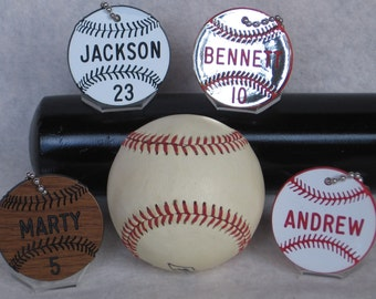 Baseball Gift / Baseball Team Gift / Baseball Bag Tags / Baseball Coaches Gift