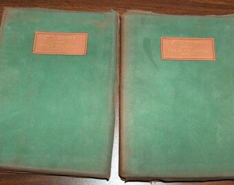 p7393: Elbert Hubbard 1908 Set of 2 Little Journeys Great Teachers Book 1 & Book 2 Biography Collection at Vintageway Furniture