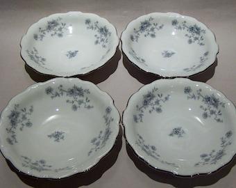 8364: Johann Haviland Blue Garland SET 4 Berry Fruit Sauce Bowls Bavaria Germany Vintage China Dinnerware at Vintageway Furniture