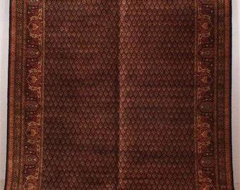 6156: Antique KARASTAN SAROUK Floor Room Size Rug 9' x 11.6' GREAT Colors at Vintageway Furniture