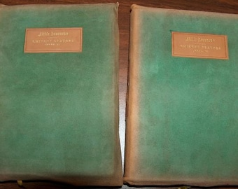 p7398: Elbert Hubbard 1903 Little Journeys Eminent Orators Illuminated Set 2 Antique Collectors Books at Vintageway Furniture