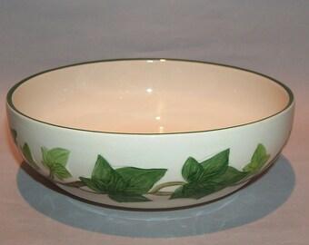 """8492: Franciscan Ivy Round Vegetable Serving Bowl 8"""" Half Moon Mark 1949-53 Vintage Dinnerware at Vintageway Furniture"""