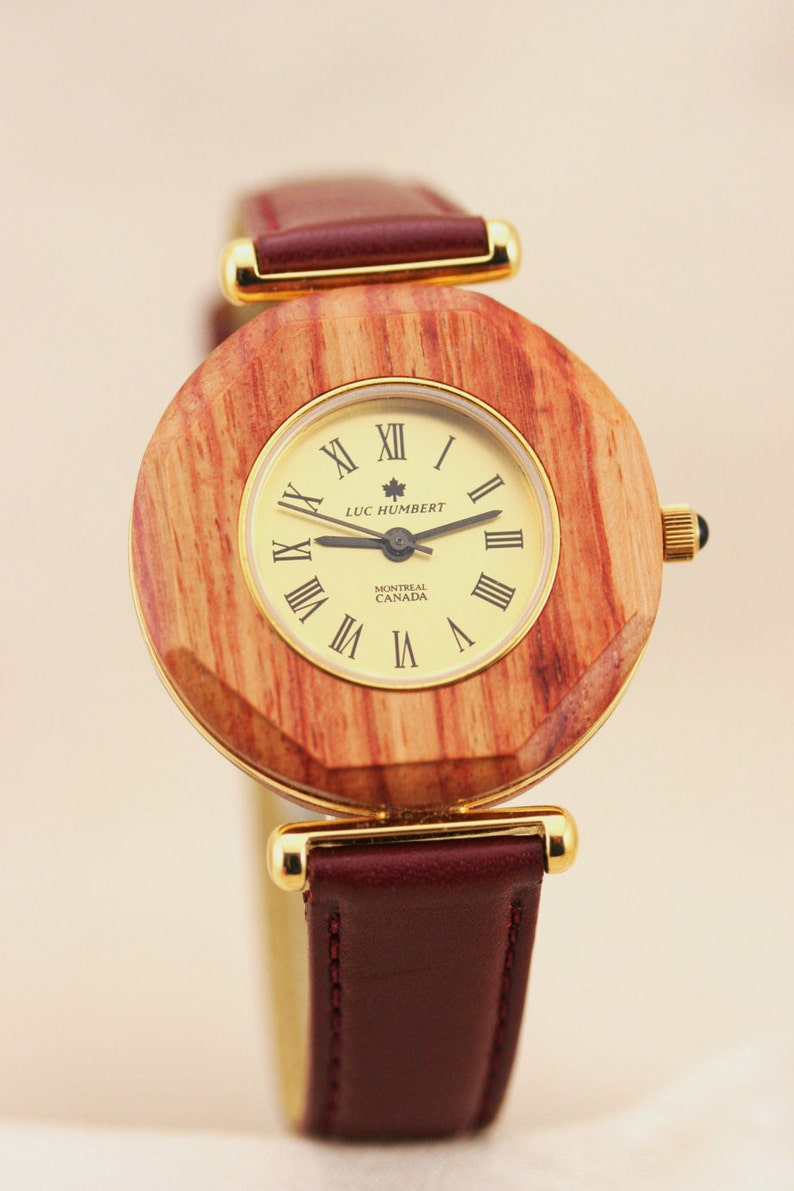 Wooden Pink Wood Watch Watch Women Women Watches Gold Gold Watch Women Leather Red Gift For Her Unique Watches Handmade Wood Gifts
