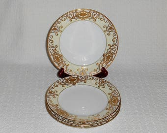 noritake china 175 christmas ball pattern bread plates with gold decorated rim set of 4 - Christmas China Sets