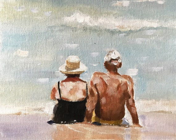 Love Painting Couple Art Love PRINT - Art Print  - from original painting by J Coates