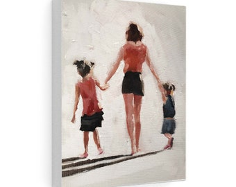 walker Wall art Fine Art Hiker Painting from original oil painting by James Coates Canvas Print