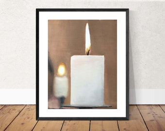 Candle Painting Candle Art PRINT Candles - Art Print - from original painting by J Coates