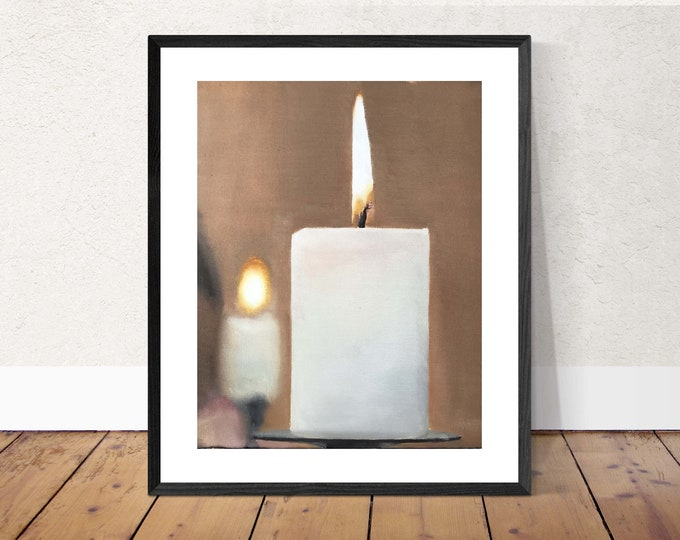 Candle Painting - Still life art  -  Canvas and Paper Prints  Fine Art  from original oil painting by James Coates