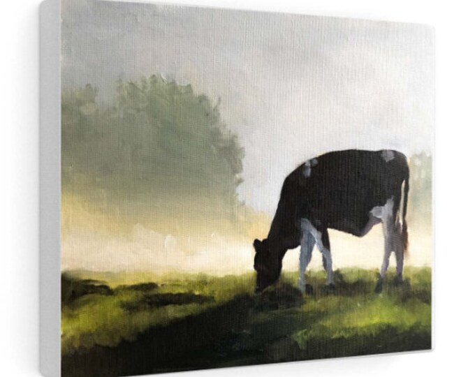 Cow Painting, Cow Wall art, Canvas Print, Fine Art - from original oil painting by James Coates