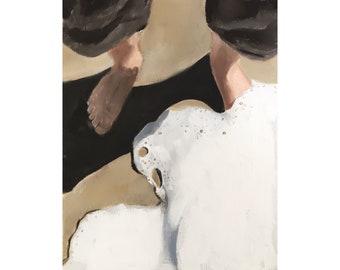 Beach Painting Beach Art Beach PRINT Feet on Beach Feet Art Print - from original painting by J Coates