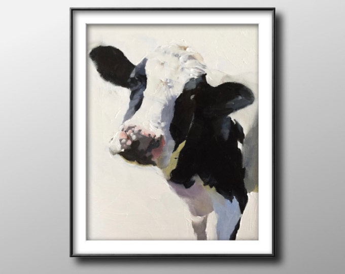 Cows - Painting - Poster -Wall art - Canvas Print - Fine Art - from original oil painting by James Coates