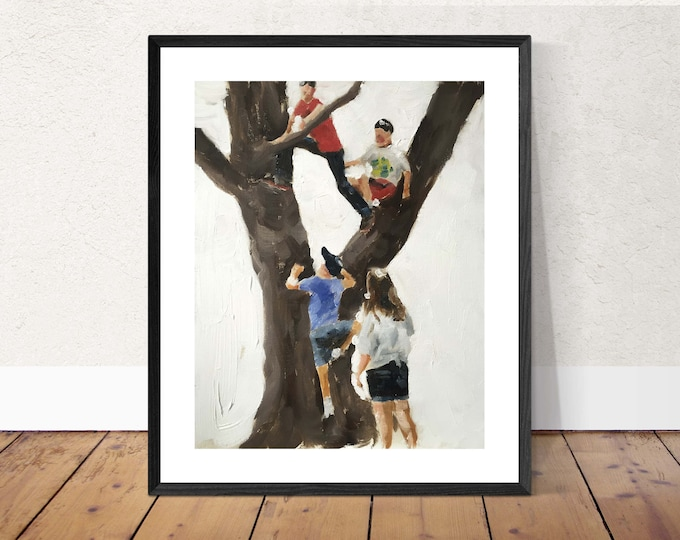 Children Painting Wall art - Canvas Print - Fine Art - from original oil painting by James Coates
