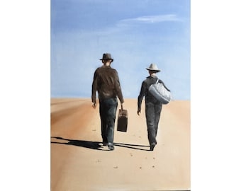 Travelling Painting Art PRINT On the Road painting PRINT - Art Print  - from original painting by J Coates