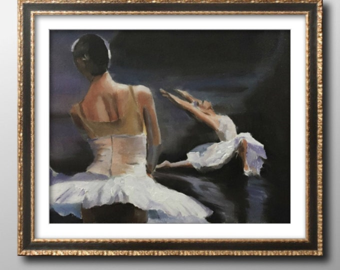 Ballet dancer Painting Wall art - Canvas Print - Fine Art - from original oil painting by James Coates