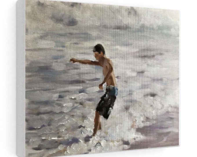 Surfer Painting, Beach art, Beach Prints, Fine Art - from original oil painting by James Coates