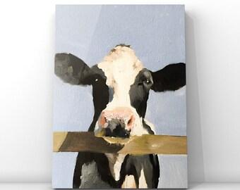cow print,cow poster,cow wall art,paint cow art print,cow canvas art,farm animal