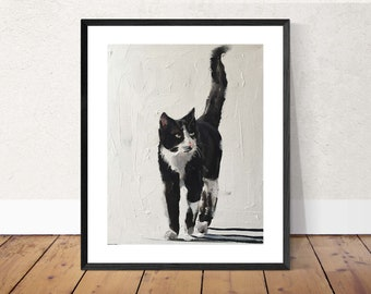 Cat - Painting - Poster - Wall art - Canvas Print - Fine Art - from original oil painting by James Coates