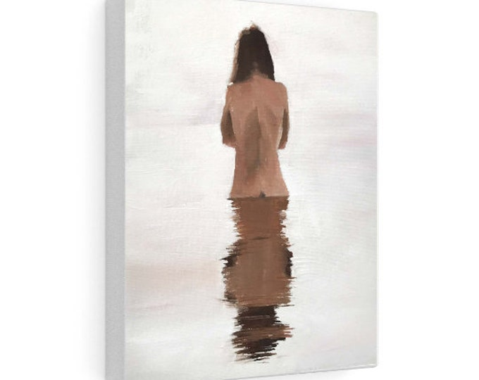 Woman Bathing Painting , PRINTS, Canvas, Posters, Fine Art, commissions, from original oil painting by James Coates