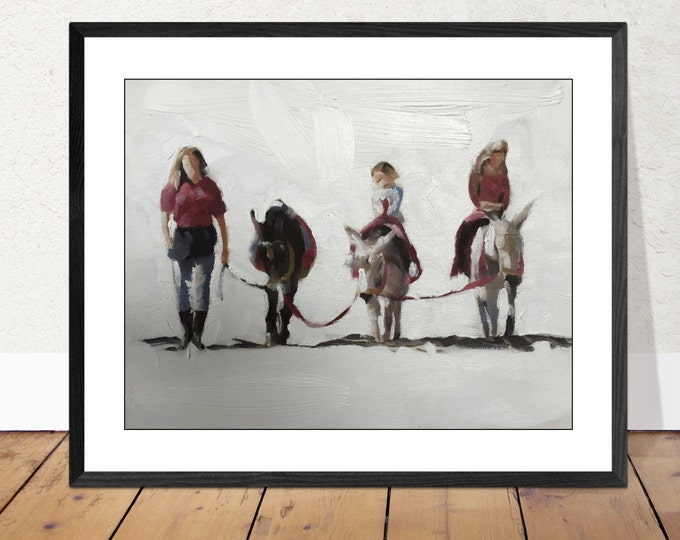 Children on Horses painting - life art - Canvas Print - Fine Art - from original oil painting by James Coates