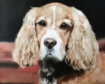 Spaniel Dog PRINT Oil Painting Spaniel Dog Painting Beagles J Coates