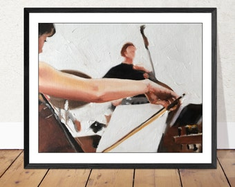 Music Painting Wall art - Canvas Print - Fine Art - from original oil painting by James Coates