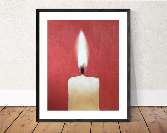 Candle Painting Candle Art Candle PRINT Candle - Art Print - from original painting by J Coates