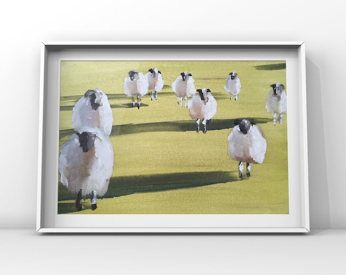Sheep - Painting - Poster - Wall art - Canvas Print - Fine Art - from original oil painting by James Coates