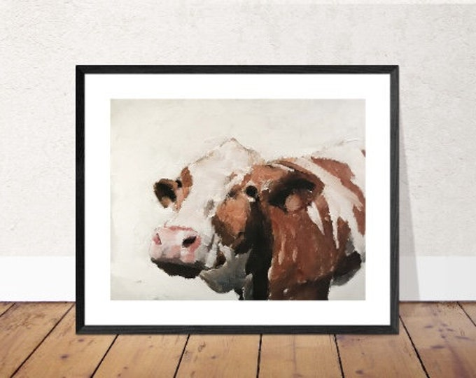 Cow Painting, PRINTS, Cow art, Canvas, Fine Art - from original oil painting by James Coates