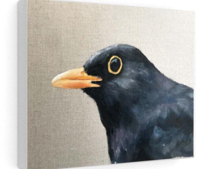 Black Bird Painting, Bird Poster , Bird Wall art, Bird Canvas, bird Print , Fine Art - from original oil painting by James Coates