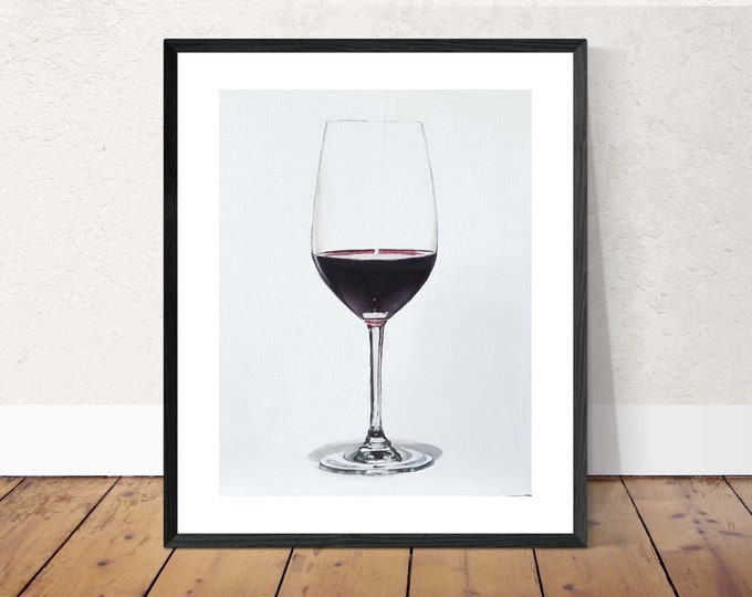 Wine Painting - Still life art - Canvas and Paper Prints - Fine Art from original oil painting by James Coates