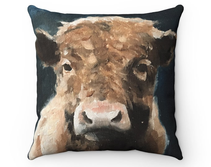 Cow Cushion Cow Pillow Cushion Square Cushion Spun Polyester Square Pillow