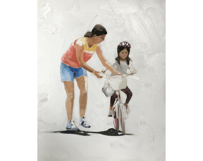 Cycling Painting - Cycling Poster - Cycling art - Canvas Print - Fine Art - from original oil painting by James Coates