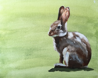 Rabbit - Painting - Poster - Wall art - Canvas Print - Fine Art - from original oil painting by James Coates