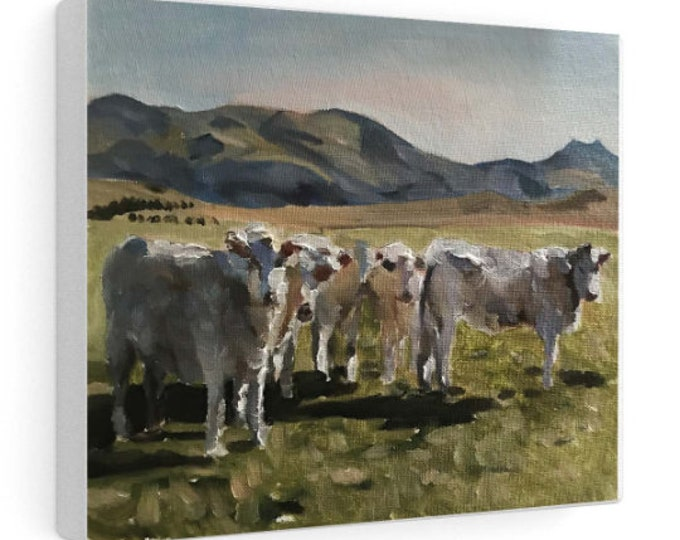 Cow Painting, Cow art, Cow Print ,Fine Art ,from original oil painting by James Coates