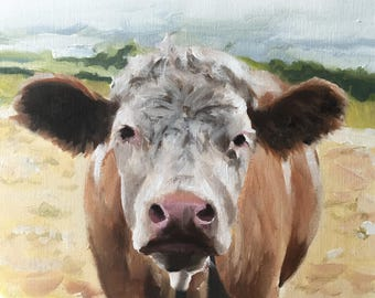 Cow Painting - Poster -Wall art - Canvas Print - Fine Art - from original oil painting by James Coates