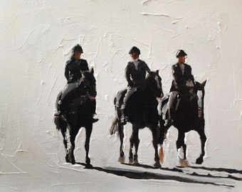 Horse Riders Painting Horse Art Horse PRINT Horse Riding Art Print - from original painting by J Coates