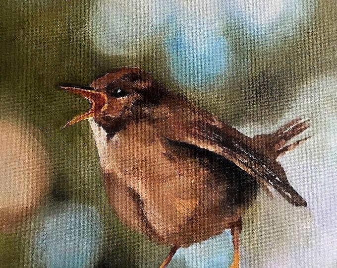 Singing bird Painting, Bird Poster , Bird Wall art, Bird Canvas, bird Print , Fine Art - from original oil painting by James Coates