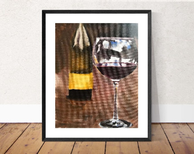 Red Wine Painting, Prints, Canvas, Posters, Originals, Commissions, Fine Art from original oil painting by James Coates